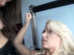 Enoy hot lesbian performance with delicious and glamourous chicks Anikka Albrite and Dani Daniels