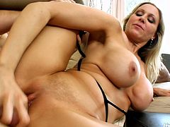 Watch the kinky blonde milf Julia Ann getting assfucked and facialized in this sexy hardcore video set by Live Gonzo.