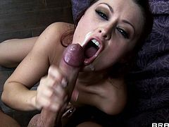 She likes having this long cock drilling her bad and making her scream