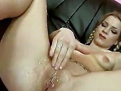 This sexy and filthy blondie Skyler is so damn horny! She gets naked with naughty babe Petra and lets her play with her divine pussy.