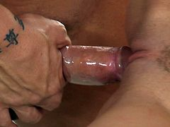 She likes feeling huge cock in her mouth drilling and gagging her in naughty oral