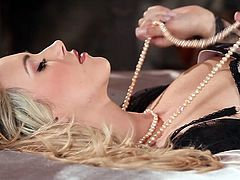 Just look at this mesmerizing stunning blondie in hot stuff in Twistys sex clip. Hot like hell babe with sweet tits uses beads for stimulating her wet pussy and reaching orgasm at once.