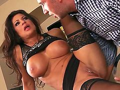 Horny hunk Keiran Lee enjoys true sex along with naughty milf Teri Weigel