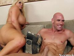 One bitch rubs her clit over his boner and another one enjoys facesitting. You are welcome here to enjoy two jaw dropping babes from naughty america porn site.