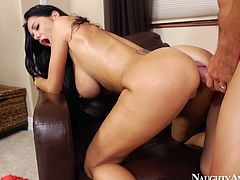 Naughty America sex clip provides you with a torrid slutty nympho, whose boobs are big and mesmerizing. Wonderful girlie moans while a strong dick penetrates her vagina deep and tough. Damn, I wish I could polish the cunt of such a horny babe one day.