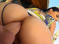 Curvaceous bitch with lovely ass Sheena Ryder her the greatest portion of anal sex. she really deserves such a fantastic banging. Her pipes needs o be cleaned immediately.