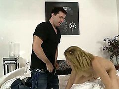 Mark Zane was invited by his chiefs super hot and sexy wife Roxanne Hall! Mark willingly came to visit her and got an unforgettable fucking action by this great cougar!