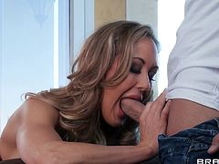 brandi love sucks a big pecker