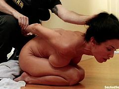 Stunning Veronica Avluv gets tied up. Then she gives deepthroat blowjob to a guy. Later on she gets pounded in her ass and pussy.