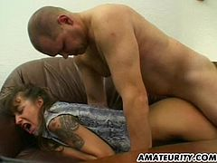 A nasty mature amateur Milf homemade hardcore action with toys, blowjob and fuck ending with cumshot on her ass...
