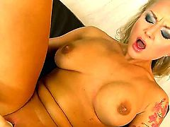 Naughty blondes Nikky Thorne and Yani use baseball bat, powerful vibrator and fingers to get pleasure