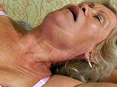 This white haired granny is super horny sexy slut,She needs young cock to feed her needs,Check out how she got her asshole fucked in the kitchen by strong young cock.Don't miss it!