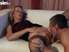 Marga is a fucking cock expert. She gets down on this dude's dick and checks it out with her mouth. She kinda likes it and allows him to fuck her beaver.