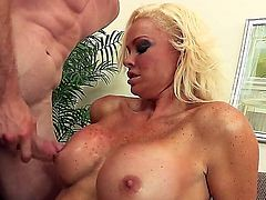 Tall and powerful lover Jordan Ash came to visit extremely hot blonde Rhylee Richards that lives not far from his home. She is amazing, has great big boobs and fucks as a goddess.