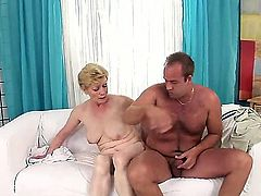 Hairy dirty vagina of the old curvy bitch Maria E. She was the popular pornstar, but now she is too old for the profession fuck, she just can swallow a dick and give her old cunt
