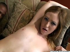 Slutty Redhead Teen Rides A Big Black Cock