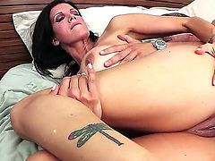 Horny milf Shay Sights gets hard pounding down her tight ass from hot hunk Mick Blue