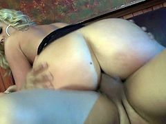 Arousing blonde beauty likes having hardcore sex and moan like slut along hunk with massive dick