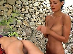 Intimate girl-on-girl massage performed well