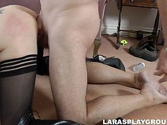 Gosh, this British slut is the way too horny and voracious. Kinky tall and pale nympho pulls up her skirt for getting her wet cunt fingered and then fucked doggy. This bitch is surely a versatile slut cuz she enjoys sucking a tasty lollicock for sperm. Check out this mature whore in Jim Slip threesome sex clip and get ready to jizz.