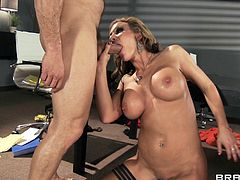 Busty blonde milf enjoys hunk fucking her brains out in amazing hardcore session