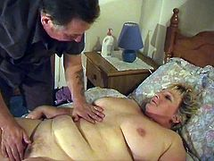 This obese whore has her disgusting, fat husband stick his sausage fingers inside her fat, wet cunt. He's so fat and gross her can hardly find his tiny dick under all his blubber. His wife manages to get a hold of his cock and sucks it like it's an eclair.
