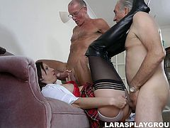 Pallid filth from Britain Lara Latex takes a chance to be fucked doggy