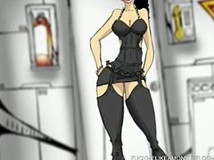 Have a look at this anime cartoon where you'll be able to feast your eyes on some hot babes wearing very sensual clothes.