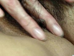 Enjoy hot tempered Japanese slut for free. She wags her palatable ass and after spreads her legs wide open to expose her juicy hairy pussy.