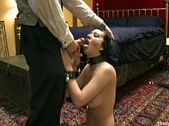 Watch this hot bondage scene where a sexy babe is tortured and fucked by her master and mistress as you get a look at her amazing body.