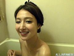 Hot Japanese girl with pretty face takes her clothes off and then gets her pussy licked in her apartment. After that she spreads her legs and gets fucked.