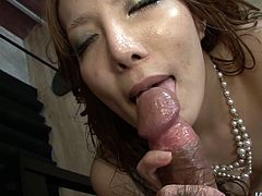 She fingerfucks her slit and after swallows juicy dick with a great delight. She massages his dick with her palatable assets. Enjoy hussy oriental bitch in Jav HD porn tube video.