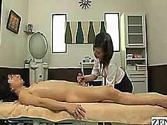 Welcome to the My First Ejaculation Salon located in a well trodden Tokyo suburb where cautious guardians can escort their timid charges all whom never had the experience of a proper orgasm to a comforting environment where they can receive a sensual and therapeutic nude penis massage with subtitles