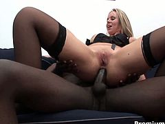 She blows his cock with passion and then she rides him in cowgirl and reverse cowgirl positions. Finally she gets her mouth filled with hot cum.