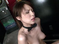Svelte Japanese hoe stands in doggy pose while sucking sturdy penis. He hairy pussy, in turn, gets banged from behind. Later she proceeds to hoping on a stiff penis in cowgirl style continuing oral fucking in steamy threesome sex video by Jav HD.