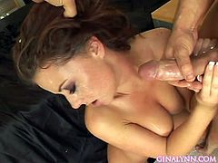 nothing makes her feel more good than warm jizz plashing her face and lips