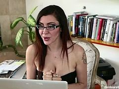 The small boobed cutie Kat Dior will suck cock while getting double penetrated by big cocks in this surprise gangbang!