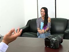 Christy Mack with giant hooters and bald muff and hard cocked guy satisfy their sexual desires together