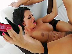 Keiran Lee uses his rock solid love wand to make blowjob addict Franceska Jaimes happy