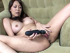 Busty Japanese milf with big juicy tits covered with beautiful lingerie pounds her bald snatch with dildo and tickles it with vibrator in sultry close up sex video by All Porn Sites Pass.