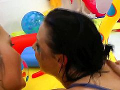 Tight cocked dude Omar Galanti getting his dick pleased with blowjob and great cunt fuck by Vanessa Vaughn and her girlfriend