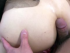Lovely Japanese temptress Mami Asakura is as horny as a slut could ever be! She sucks one guy's cock while another guy is licking her tight sexy pussy.