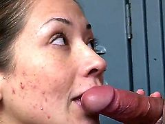 Coco Velvet gets covered in sticky nectar after sex with hot dude