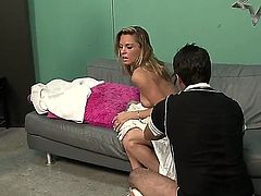 Oriental Amanda Blow gets her mouth stuffed full of love torpedo in oral action with horny guy