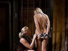 Here is what happens in the BDSM dungeon when you put two lesbians. Barbie White and Kathia Nobili are ready to show how much they love spanking and ropes!