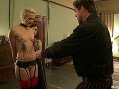 Nothing like a good bondage scene to get a hard on. Watch these ladies being tortured and fucked by their master and a smoking hot mistress.