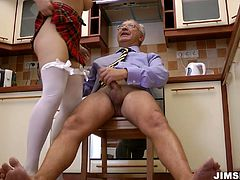 Bodacious blonde hottie Chanel C gets her throat fucked. Then she takes it up her snatch missionary style tight on the kitchen table.