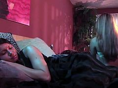Two svelte amateurs finger fuck each other's tight pussies before the stand in pose 69 to eat soaking shaved cunts in sensual lesbian sex video by Premium HDV.