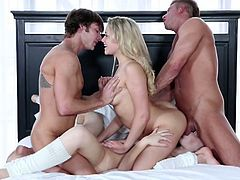 Aubrey and mia get banged together