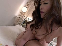 Tasty looking Japanese mom uses her hairy worn out vagina to ride a hard penis in cowgirl and later in reverse cowgirl styles in sizzling hot pov sex video by All Porn Sites Pass.